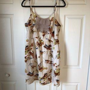 Anthropologie Eloise Bird Print Dress